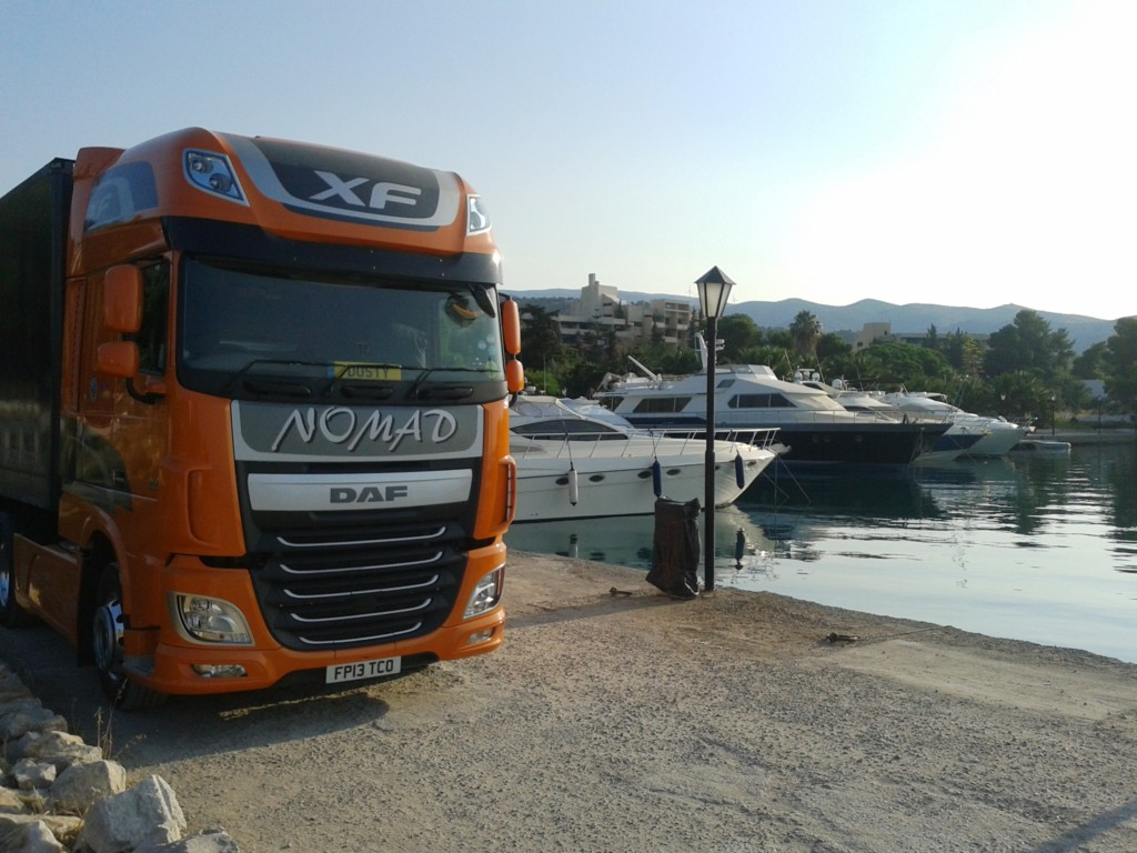 Overseas removal to Greece with Nomad